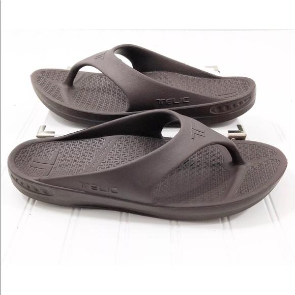 8672e2db55f6 Telic Men s Sandals Arch Support Flip Flops. M 5ab84ec53b160846949861ff
